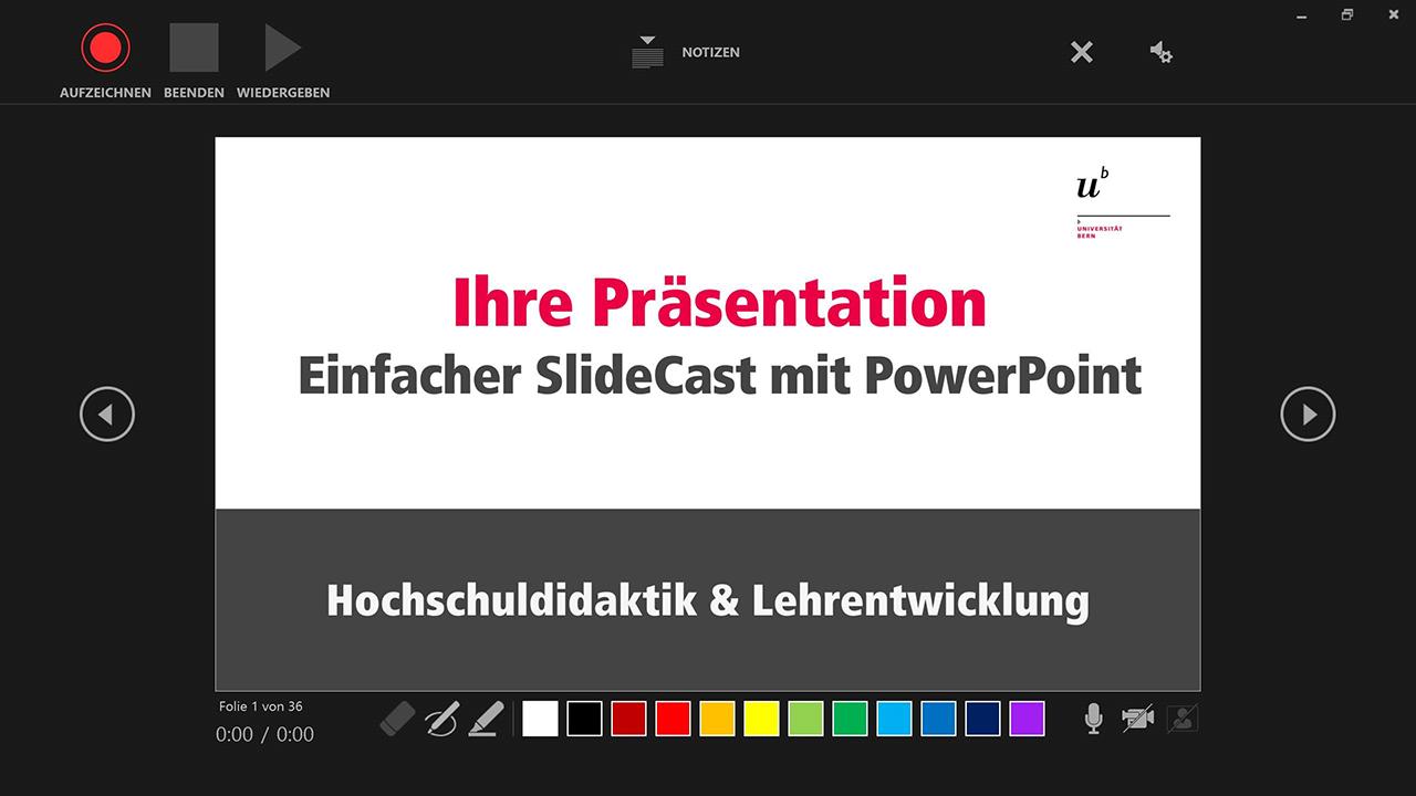 Schneller SlideCast mit PowerPoint